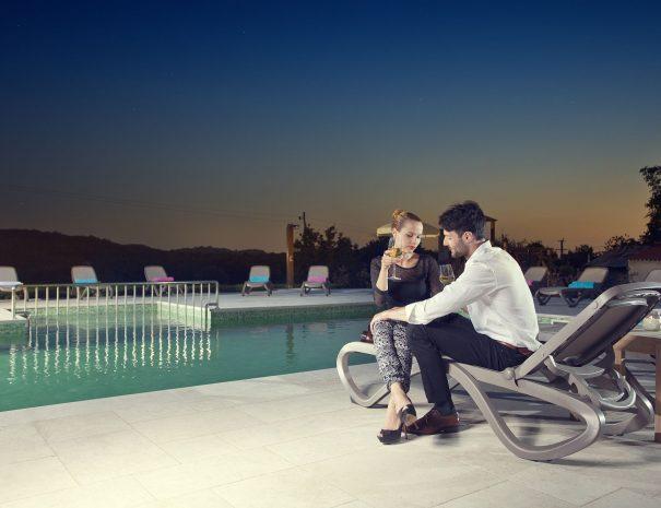 Villa Poropati-Pool-models_night
